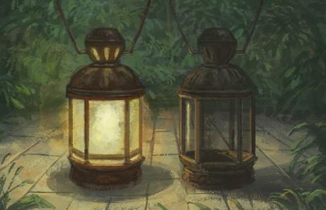 illustration of 2 lanterns