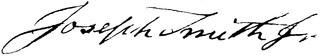 Joseph Smith's signature