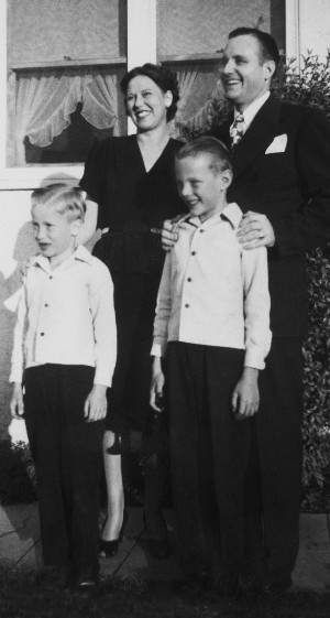 Howard and Claire with sons