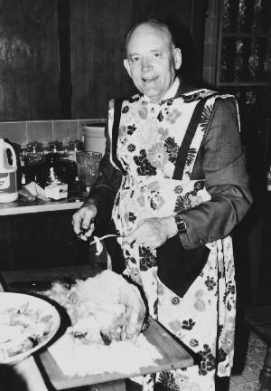 Elder Hunter in kitchen