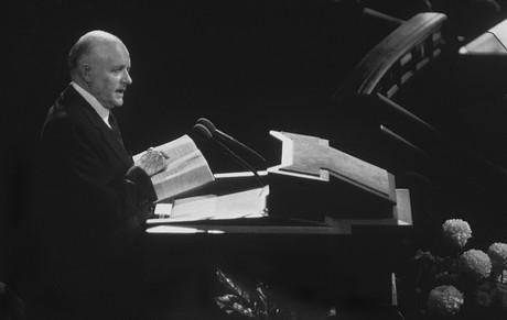 President Hunter speaking