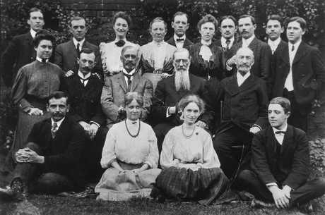 President Smith with missionaries