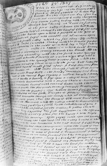 page of journal
