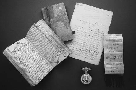 journal and memorabilia