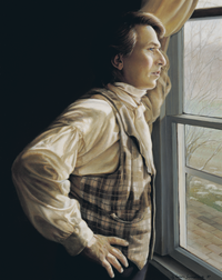 Joseph Smith looking out a window