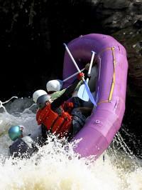 people in raft