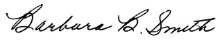 Barbara B. Smith's signature