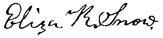 Eliza R. Snow's signature