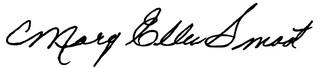 Mary Ellen Smoot's signature