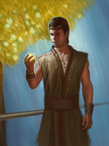 Nephi holding fruit