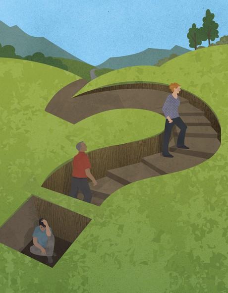 question mark path