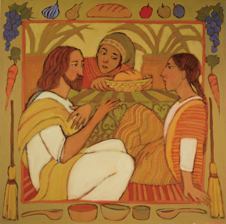 Jesus and Mary and Martha