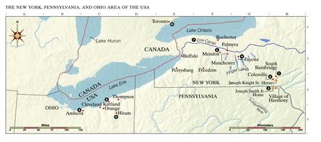 map, northeastern US