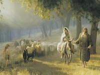 Joseph and Mary Travel to Bethlehem