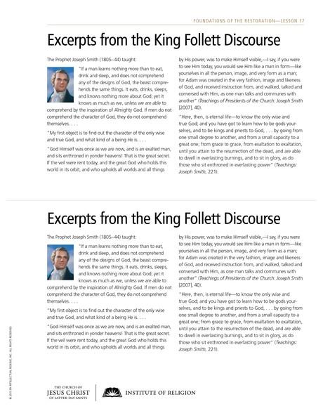 handout, King Follett Discourse
