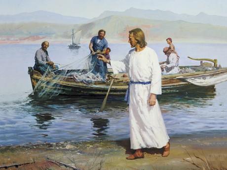 Christ calling fishermen