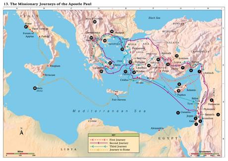 map, eastern Mediterranean