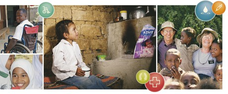scenes of humanitarian aid