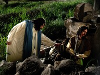 Christ waking Apostles