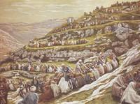 large multitude on hillside