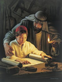 child Jesus with scroll