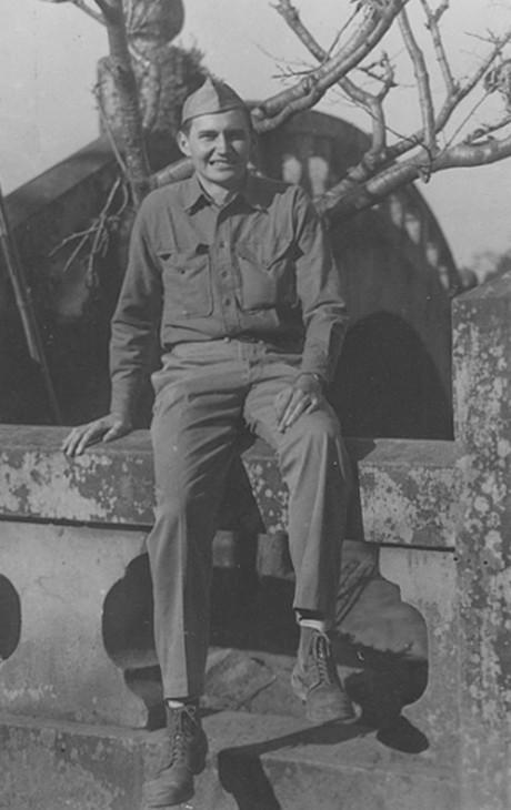 L. Tom Perry as marine in Japan