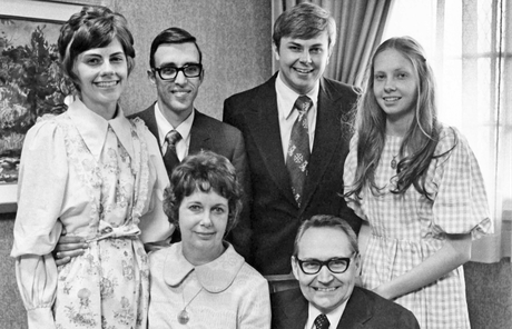 L. Tom Perry and family