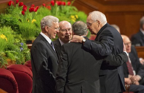 L. Tom Perry with other Apostles