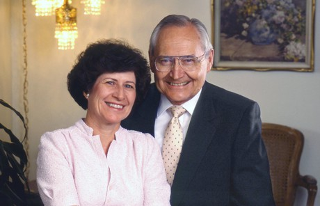 L. Tom Perry with his second wife