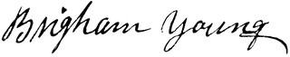 Brigham Young's signature