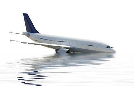 airplane in water