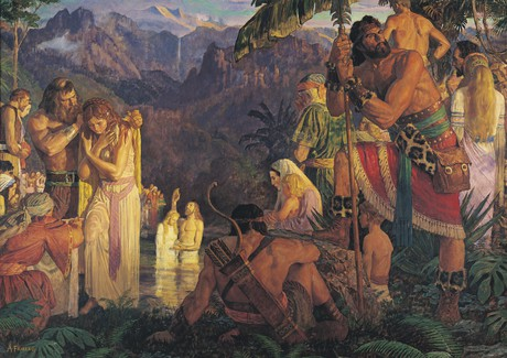 Alma kastaa Mormonin vesissä.