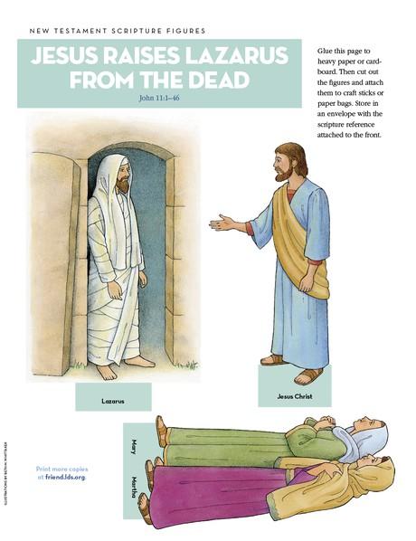 Scripture Figures, Jesus Raises Lazarus from the Dead