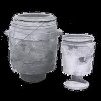 drawing of limestone pots