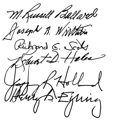 signatures of the twelve 2