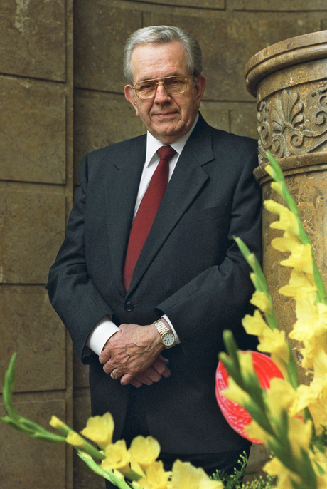 Boyd K. Packer and flowers