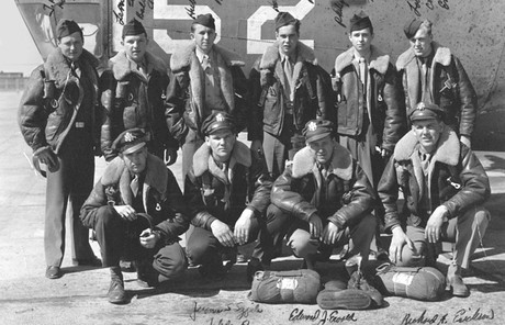 Boyd K. Packer with bomber crew