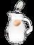 pitcher, salt, and egg