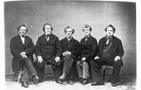 Brigham Young with his brothers