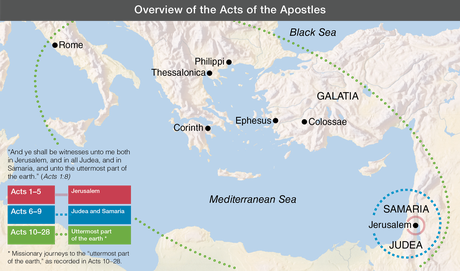 Jerusalem Judea Samaria And The Ends Of The Earth Map.Lesson 81 Acts 1 1 8