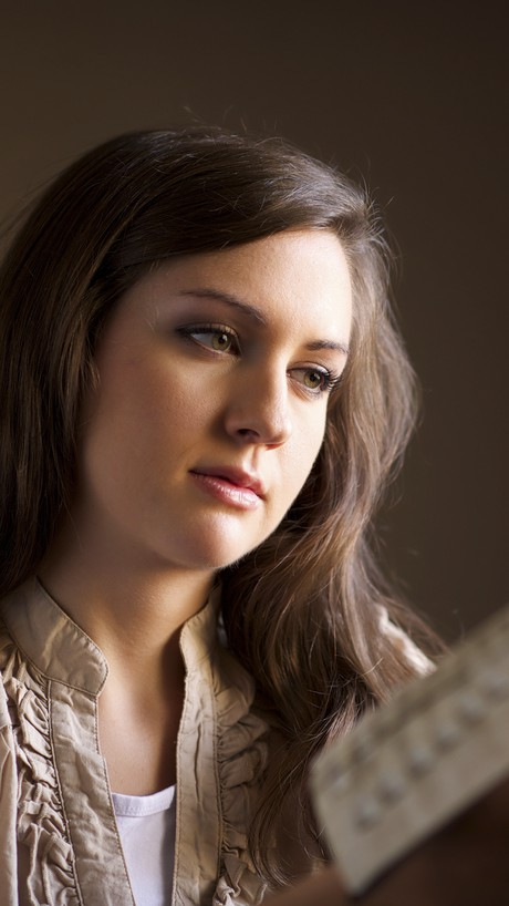 young woman with scriptures
