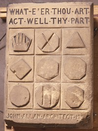 stone, whate'er thou art act well thy part