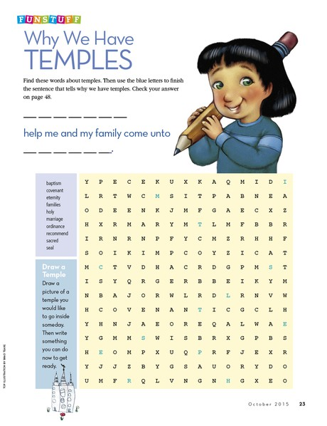 Funstuff: Why We Have Temples
