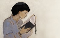 woman reading scriptures