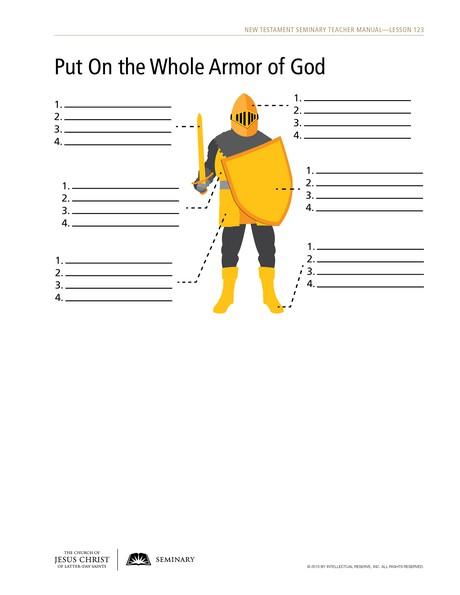 handout, armor of God