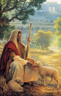 Christ with lamb