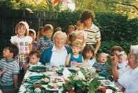 A família Hinckley com os filhos pequenos