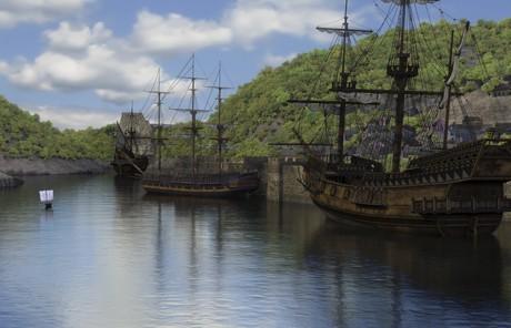 Ships at the Bristol port