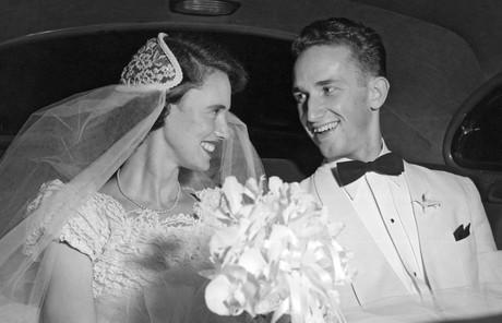 Richard and Jeanene Scott on wedding day