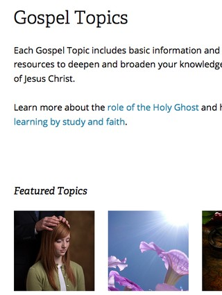 Gospel Topics web page